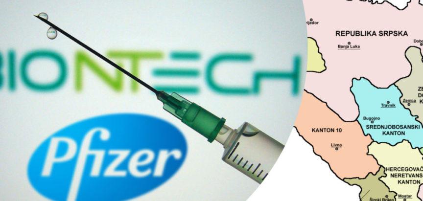 Raspodjela Pfizer cjepiva po županijama