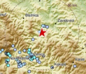 Snažan potres probudio građane Srednje Bosne