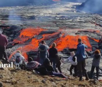 Erupcija vulkana na Islandu privukla veliki broj turista