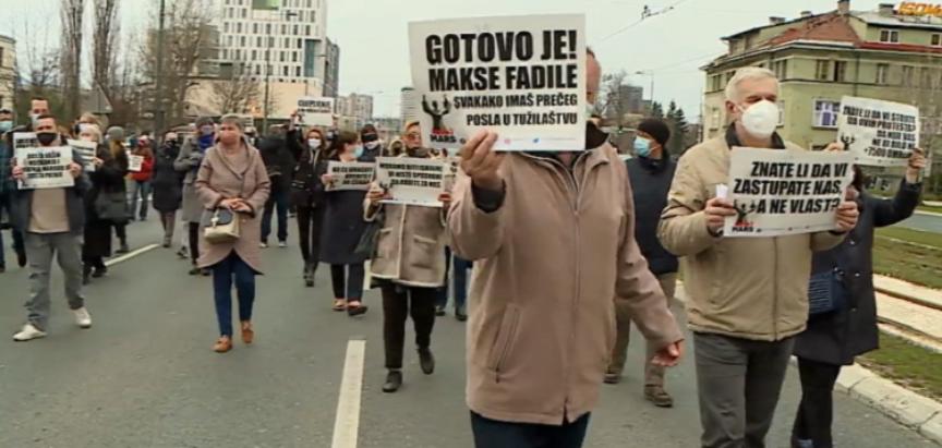 Prosvjed u Sarajevu zbog spore nabavke cjepiva