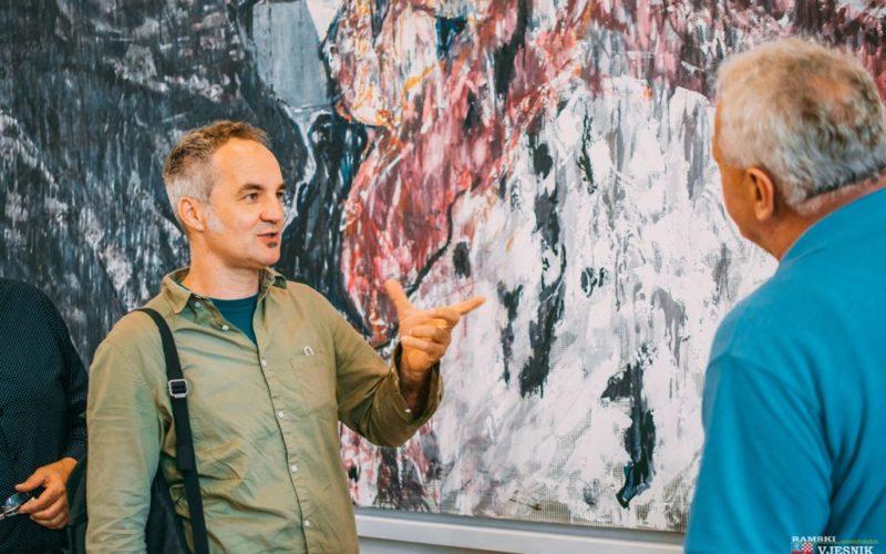 Akademski slikar Matko Vekić u posjeti Prozor-Rami
