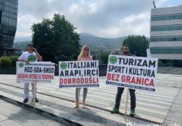 Turistički radnici iz BiH prosvjedovali u Sarajevu zbog (ne)donošenja odluka Vijeća ministara BiH