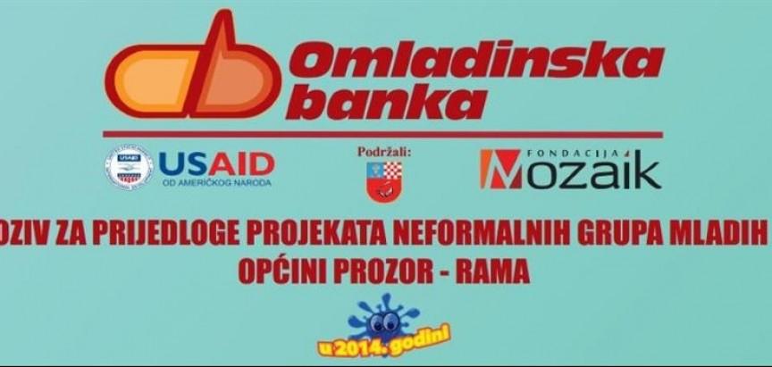 Produžetak roka za prijavu projekata neformalnih grupa mladih u općini Prozor-Rama
