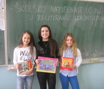 U OŠ Marka Marulića održano školsko natjecanje u recitiranju : Krasnoslov