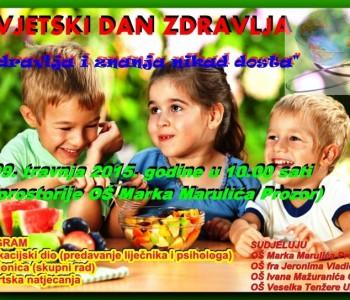 Najava: Obilježavanje Svjetskog dana zdravlja u OŠ Marka Marulića u Prozoru