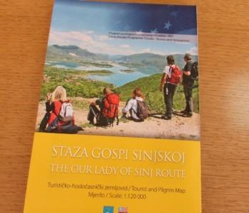 Iz tiska je izišla turističko-hodočasnička karta Staza Gospi Sinjskoj – The Our Lady of Sinj Route