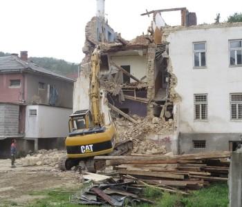 Srušena nekadašnja zgrada Općinskog suda u Prozoru