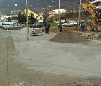 Betoniran privremeni parking u Splitskoj ulici u Prozoru