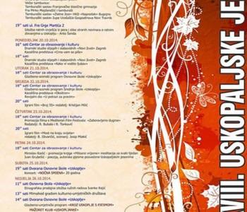 18.Uskopaljske jeseni 2014.od 19. – 26.listopada
