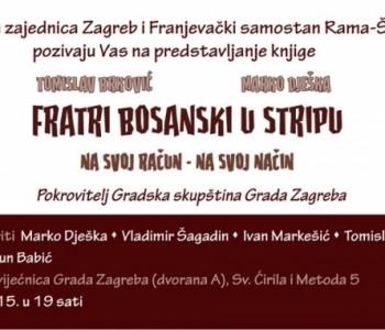 """Poziv na predstavljanje knjige """"Fratri bosanski u stripu- na svoj račun na svoj način"""" u Zagrebu"""