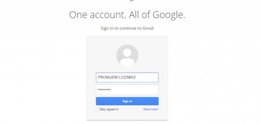 Pet milijuna Gmail adresa i lozinki objavljeno na internetu