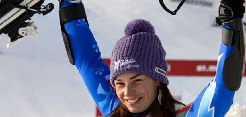 Slovenska skijašica Tina Maze slavila u Leviju