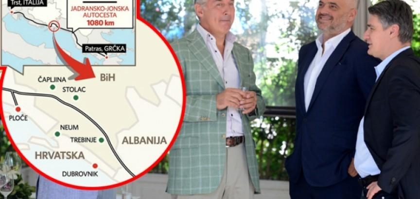 EKSKLUZIVNO: TRASA KROZ BOSNU Hrvatska će odustati od autoputa do Dubrovnika