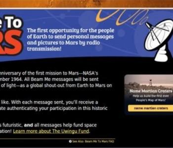 Zemljani na Mars šalju 90 tisuća pozdrava