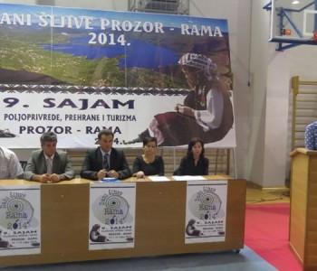 "Dodjelom nagrada zatvoren 9. Sajam poljoprivrede,prehrane i turizma ""Sajam šljive 2014"" Prozor- Rame"