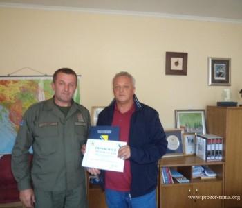 Oružane snage Bosne i Hercegovine uručile Zahvalnicu Općini Prozor-Rama