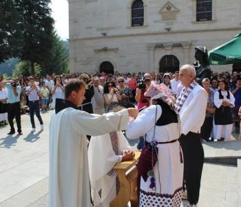 Vjernici na Šćitu proslavili Veliku Gospu i Mladu misu fra Ivana Tučića