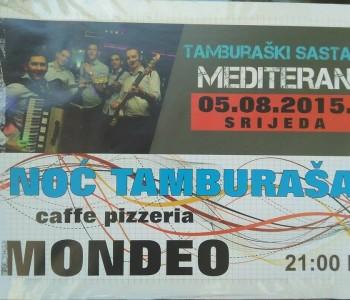 Dođite na Noć tamburaša u caffe pizzeriu Mondeo u Prozoru
