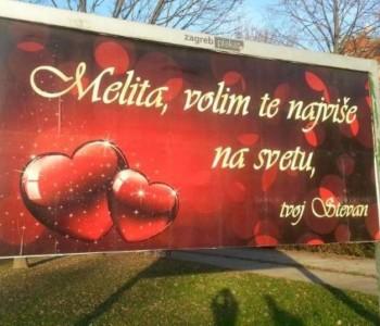 Beograđanin zaljubljen u Zagrepčanku svima je to rekao na rijetko viđen način